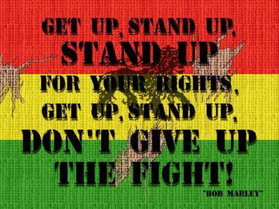 get up stand up: