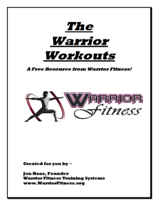The Warrior Workouts Cover